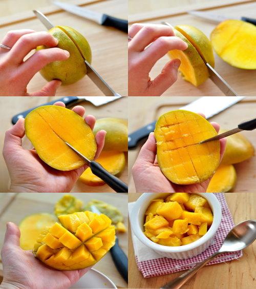 hoe snijd je een mango