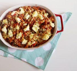 pastaschotel met tonijn uit de oven