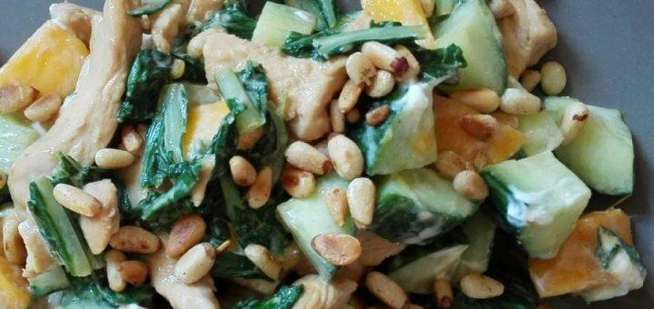 salade kip mango geitenkaas