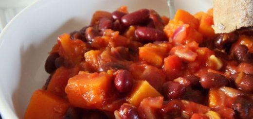 bonen chili met pompoen