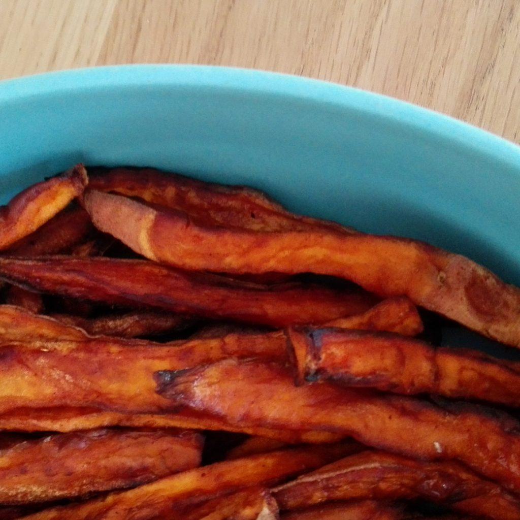 zoet aardappel friet